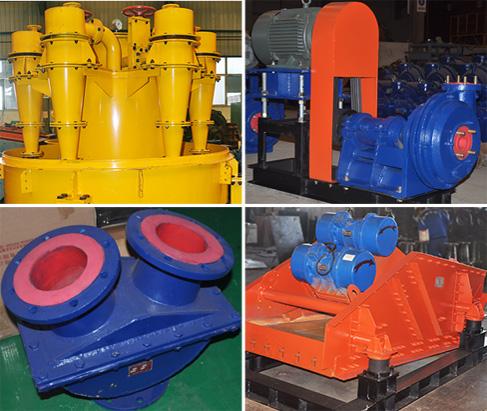 鑫海自主研发的泵阀旋流器脱水筛
