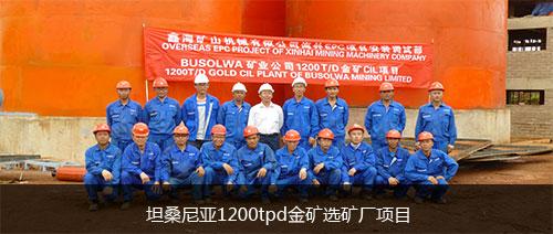 坦桑尼亚1200tpd金矿选矿厂项目